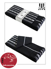 KIMONO YUKATA OBI JAPANESE BELT KAKU CEINTURE COTON JAPANSK NEW NEUF BLACK NOIR