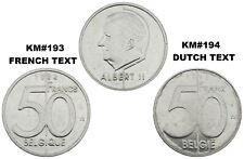 Belgium 50 Francs/Frank  KM#193/194 french/dutch Albert II (35) CHOOSE YOUR DATE