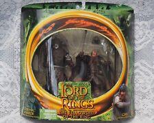 Lord of the Rings Uruk Hai Warrior & Gimli Figurines Fellowship of the Ring 2001