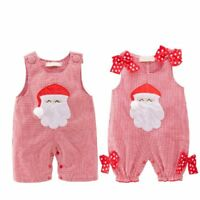 Baby Girl Boy First Christmas Santa Claus Costume Outfit Clothes OnePiece Romper