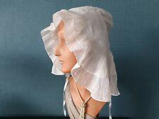 Coiffe ancienne en linon brodé cornely bonnet folklore français - 102