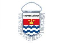 fanion mini drapeau voiture decoration souvenir blason anglais greater london