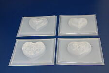 SEIFENGIEßFORM 4 HERZ FORMEN la production de savon FORMSOAP MOULD GLYCERINSEIFE