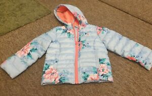 Joules blue floral coat age 4 years