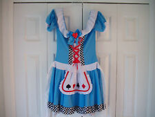 Halloween Adult Costume Miss Wonderland Polyester Dress Cartoon Hot Topic  Large