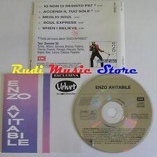 CD ENZO AVITABILE PROMO VELVET TOUR GENNAIO 1992 EMI ITALY NO lp mc dvd