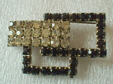 black stones & Rs ~ vintage Art Deco Pin Of Rectangles
