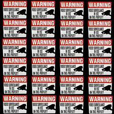 LOT OF SPY VIDEO SECURITY CAMERA WARNING STICKER DECALS