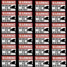 24 SURVIELLANCE SECURITY CAMERA JEWELRY DISPLAY CASE WARNING STICKER DECALS