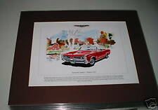 Pontiac GTO Mounted colour USA car Print
