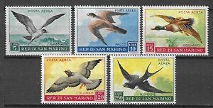 San Marino 1959 Wildlife Fauna Birds Vögel Oiseaux Air Mail compl. set MNH