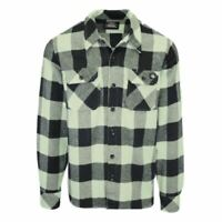 Dickies Men's Mint Green & Black Box Plaid Sacramento L/S Flannel Shirt (S01)