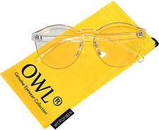 Colorful Transparent C3 Round Retro Designer Sunglasses Clear Frame Clear Lens