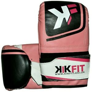 Boxing Bag Mitts Gloves Grappling Punch Bag MMA UFC Muay Thai Training Ladies
