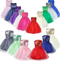 Flower Girl Tutu Dress Kids Bowknot Princess Party Wedding Bridesmaid Gown Dress