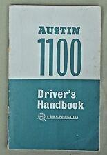 "Vintage Austin 1100 Drivers Handbook 1964 &  ""The Motor"" Roadtest 1963"