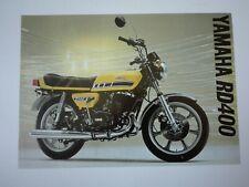 Prospectus Catalogue Brochure Moto Yamaha RD 400 1976