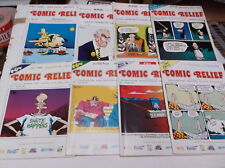 Comic relief 100 different all are in fine condition