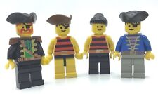 LEGO LOT OF 4 VINTAGE PIRATE MINIFIGURES SHIP CREW PEOPLE & CAPTAIN