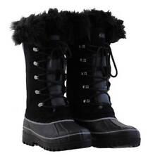 Khombu Nordic 2 Winter Snow Boots Black & Grey, Suede, Fur ODD UK size 4 & 5 NEW