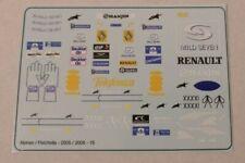 """Renault R25 / R26 Fernando Alonso / Fisichella """" Figure Decals  """" 2005/2006 1/18"""