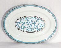 Raynaud Limoges Large Porcelain Cristobal Coral Turquoise Oval Platter France
