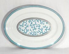 Raynaud Limoges Porcelain Cristobal Coral Turquoise Oval Platter Made in France