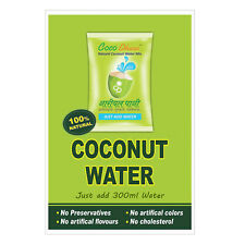 20 Sachet Instant Tender Natural Coconut Water Powder Mix No Preservatives 18gm
