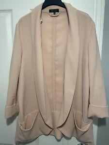 Pink Size 18 Smart Open Jacket New Look