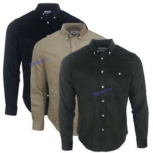 Men's Corduroy Ex Chainstore Men's Long Sleeves Cotton Winter Casual Shirt Top