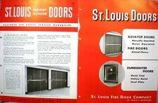 St. Louis Fire Door Co. Fireproof ASBESTOS Alsteel-Dor Fire Doors Catalog 1950