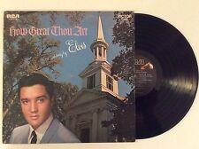 1967 ELVIS PRESLEY -HOW GREAT THOU ART As sung by Elvis mono vinyl LP NM