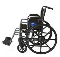 "Medline K1 Basic 18"" Width Wheelchair - MDS806250EE"