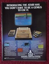 1979 Print Ad Atari 400 Computer System ~ You Don't Have to be a Genius Games ++