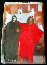 6296 Butterick Sewing Costume Ghost Reaper Devil Pullover Robe Xsmall-Xlarge