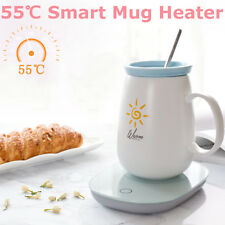 55℃ Electric Cup Mug Milk Tea Coffee Drink Warmer Heater Tray Mat Gravity Sensor
