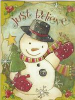 Lang Tip On Christmas Cards, Box Of 16, Just Believe By Karen Good (113)