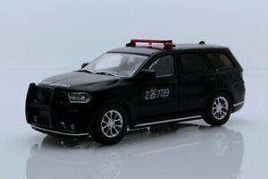 2018 Dodge Durango SUV Matte Black, Chile Police Car 1:64 Scale Diecast Model