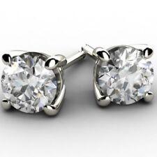 Pendientes de joyería con diamantes de oro blanco diamante VS1