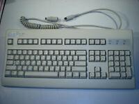 Vintage KeyTronic EuroTech English / Russian Keyboard w/ PS2 Adapter, J980133428