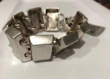 Robert Lee Morris Modernist Silver Tone Toggle Chain Link Bracelet