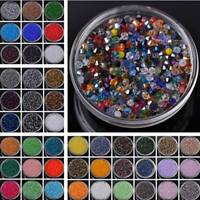 100/500pc 4mm Faceted Crystal Glass Bicone Loose Spacer Beads DIY Jewelry Making