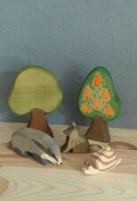 Ostheimer Tiere: Dachs, Wolf, Schnecke, Bäume rar