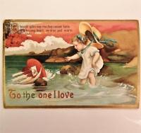 Antique 1915 Embossed Ellen Clapsaddle Valentines Day Postcard Series No. 4234