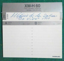 CUSTODIA MC Musicassetta SAMSUNG XM-H 60 vintage tape compact cassette USATA