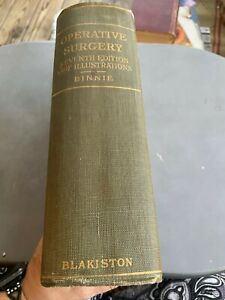 Operative Surgery Book Binnie c1916 w/ 1159 illustrations some Color 7th Edition