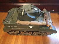Custom WW2 US M5 Light Tank 1/6 Scale Vehicle w/ Extras & Box, Ultimate Soldier