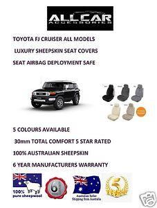 Sheepskin Car Seatcovers for a Toyota FJ Cruiser, 5 colours, seat  Airbag safe.