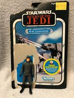 Vintage Kenner 1983 ROTJ Star Wars Action Figure AT-AT Commander with Card
