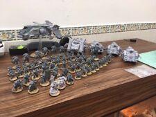A used based large space marine army warhammer 40k/30k forgeworld units